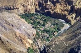 canyon del colca trekking: l'oasi di sangalle