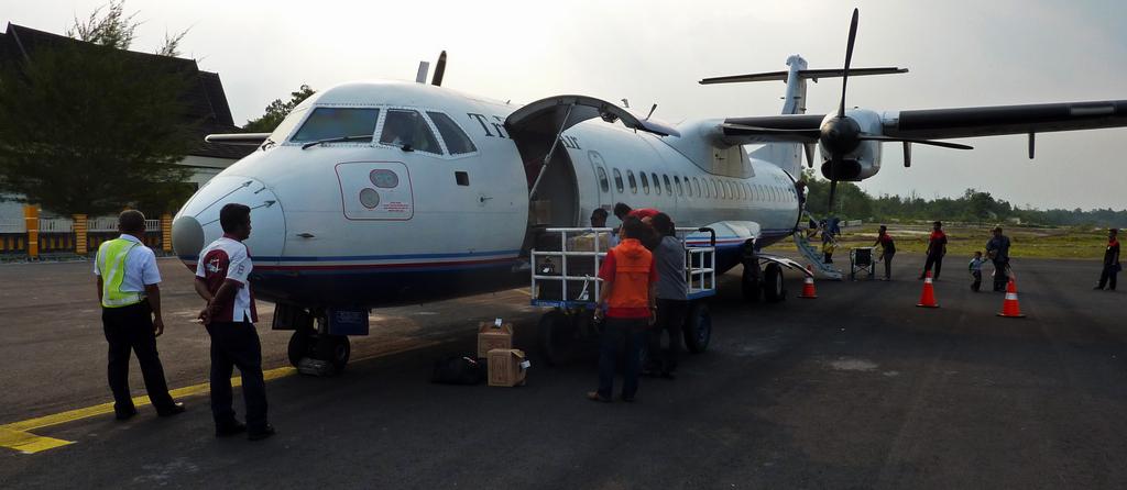 L'aereo per il Kalimantan