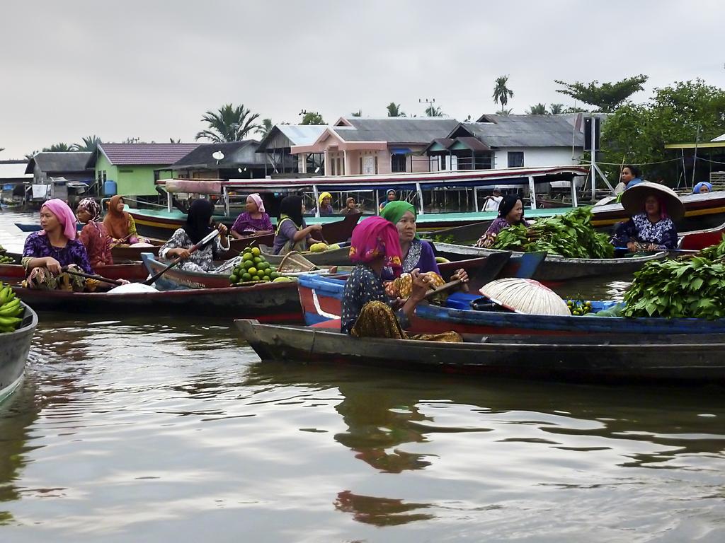 Il mercato galleggiante di Banjarmasin