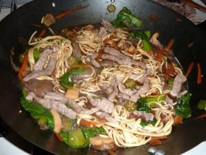 tagliolini wok