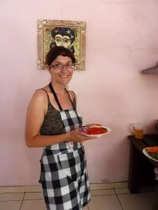 Paola pronta con le verdure