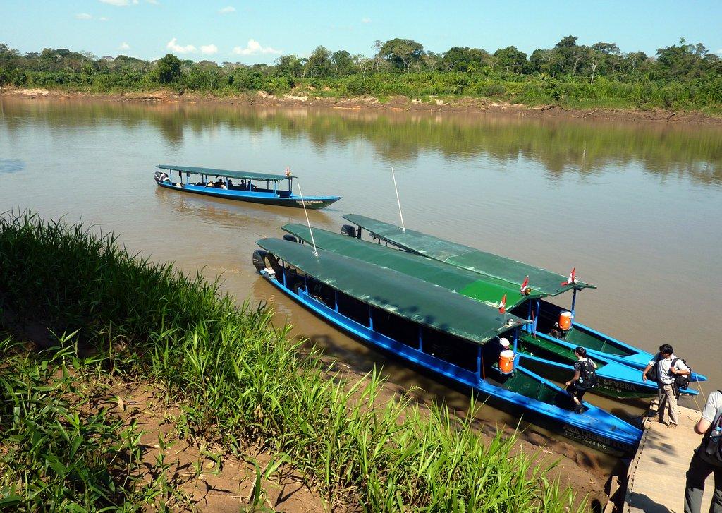 pronto per l'avventura sul Rio Tambopata?