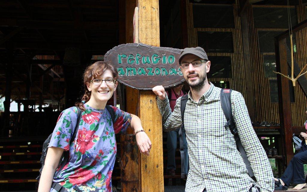 l'arrivo a Refugio Amazonas