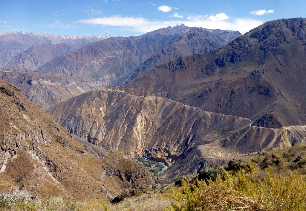 Una veduta del Canyon del Colca