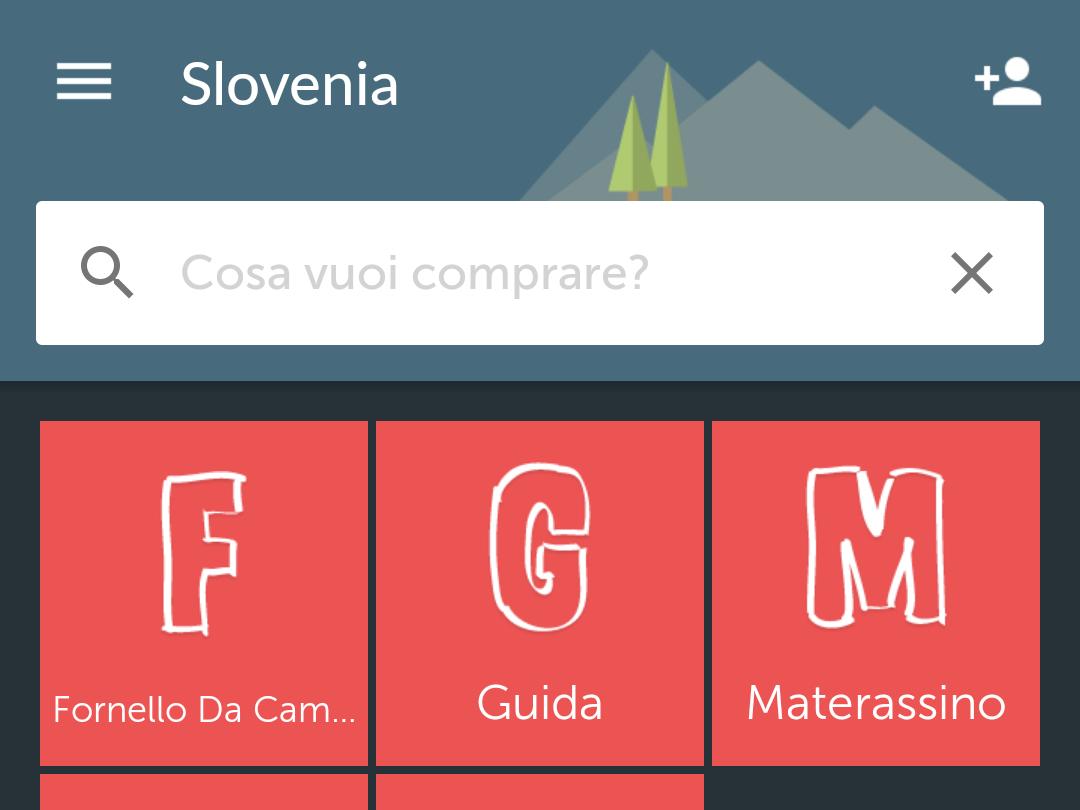 Campeggio in Slovenia? Puoi fare la lista con Bring.