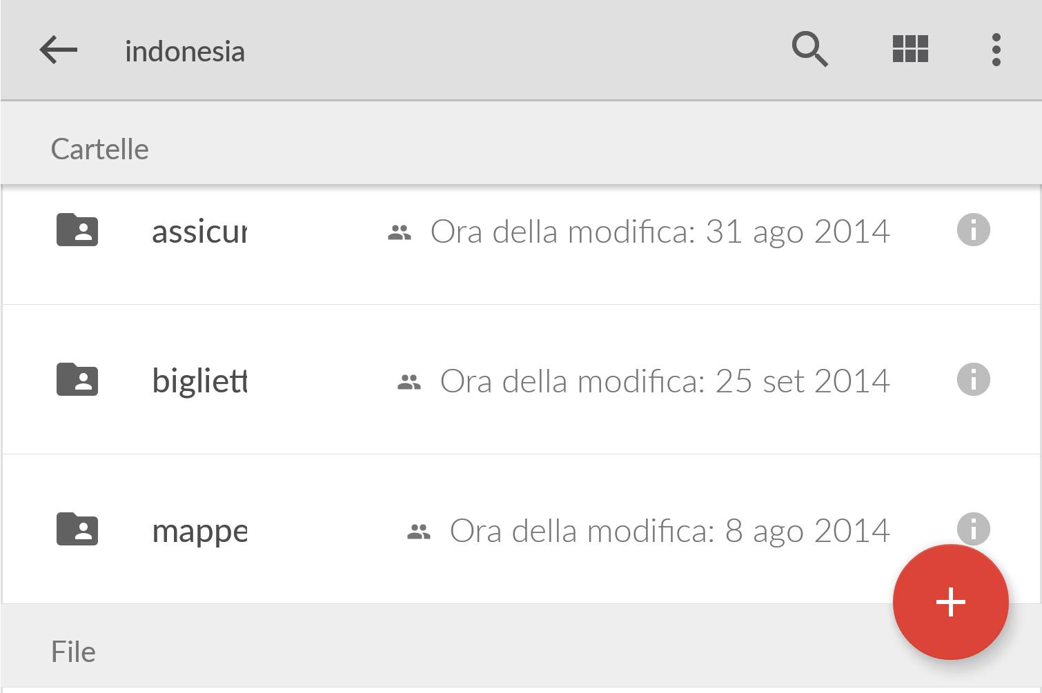 Puoi condividere tutte le info e documenti di viaggio tramite Google Drive