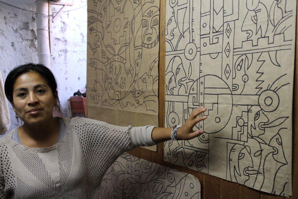 artigianato peruviano: i motivi geometrici