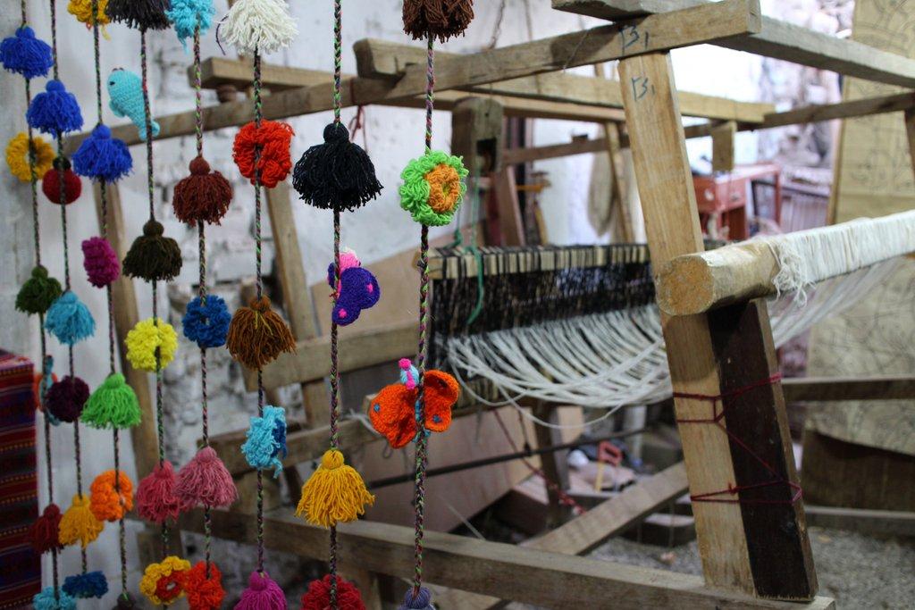 artigianato peruviano: il telaio
