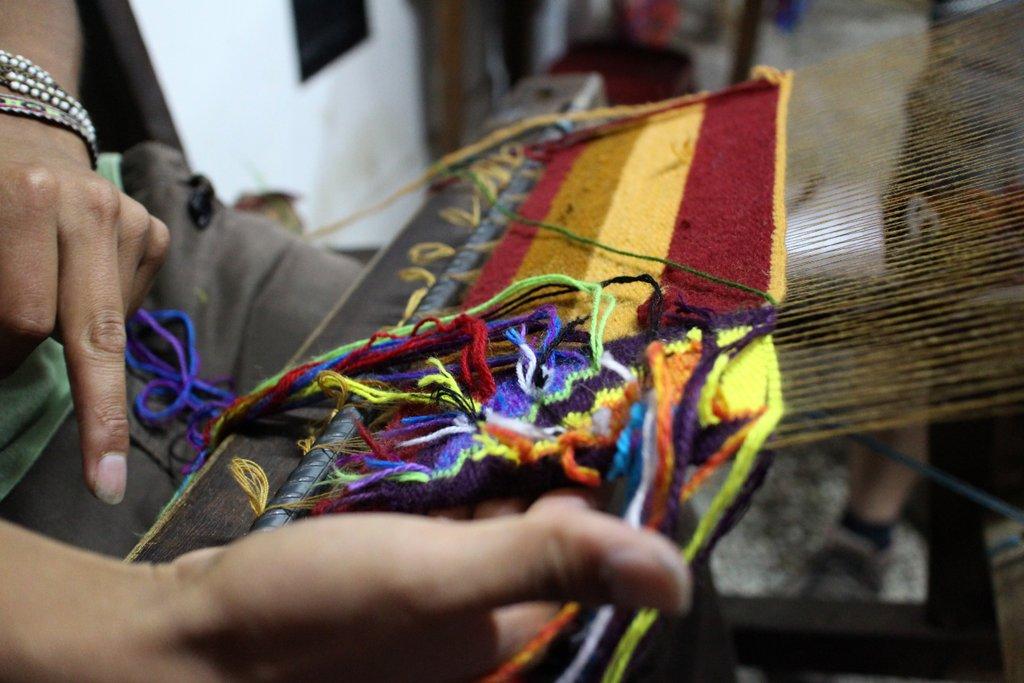 artigianato peruviano: la tessitura