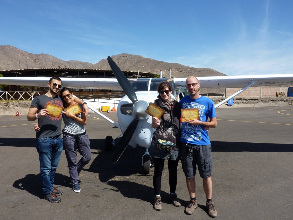 Linee di Nazca. Consegna del certificato