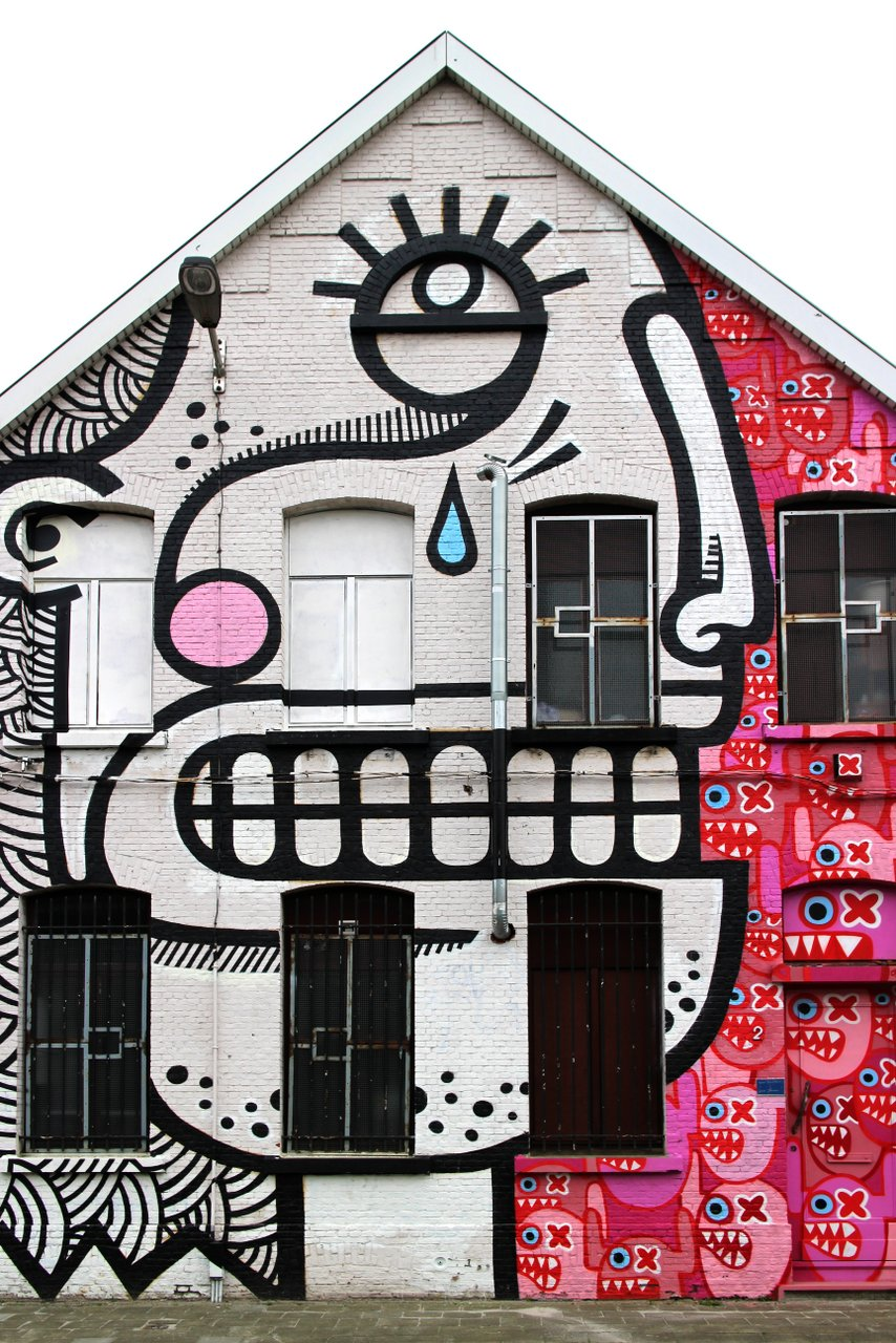 graffiti di anversa e street art: Joachim a New Zuremborg