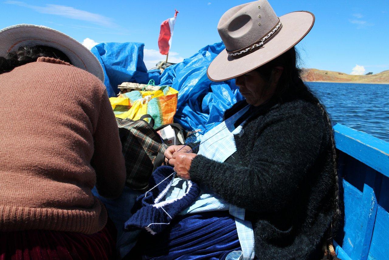 lago titicaca fai da te: la barca per Amantani