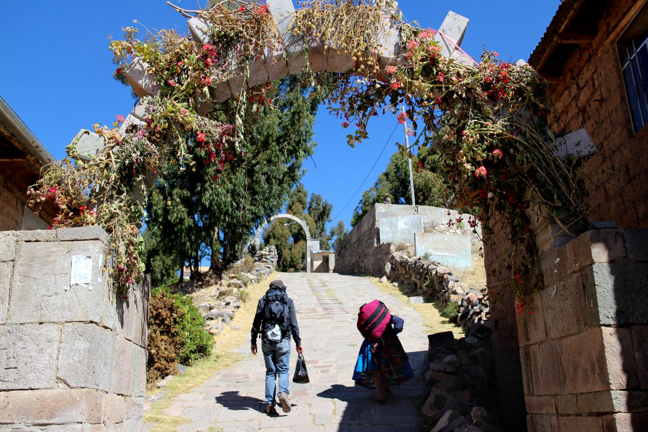 lago titicaca fai da te: la salita ad Amantani