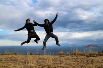 lago titicaca fai da te: marco e paola ad Amantani