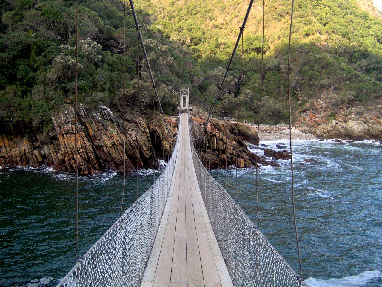 sudafrica itinerario: Ponte tibetano al Tsitsikamma National Park