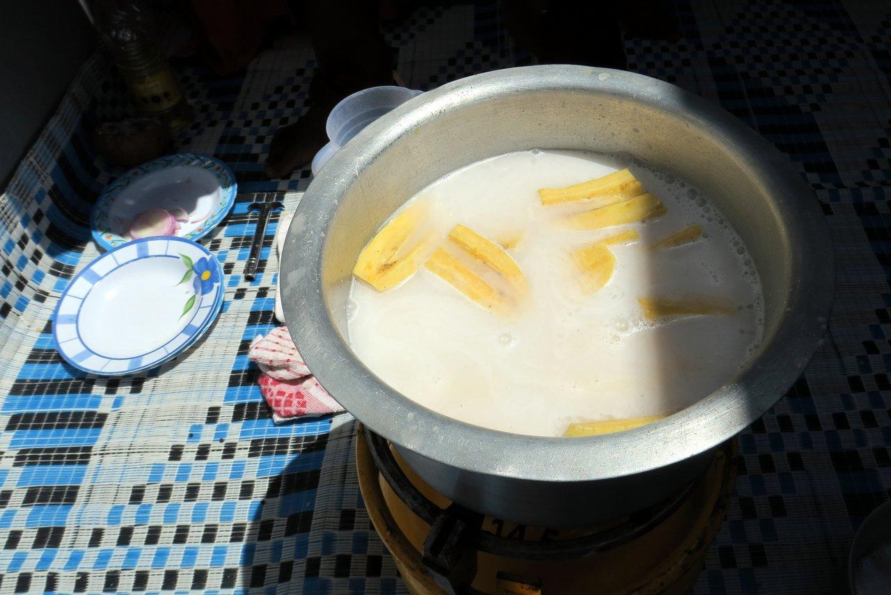 corso di cucina a zanzibar - banane al cocco