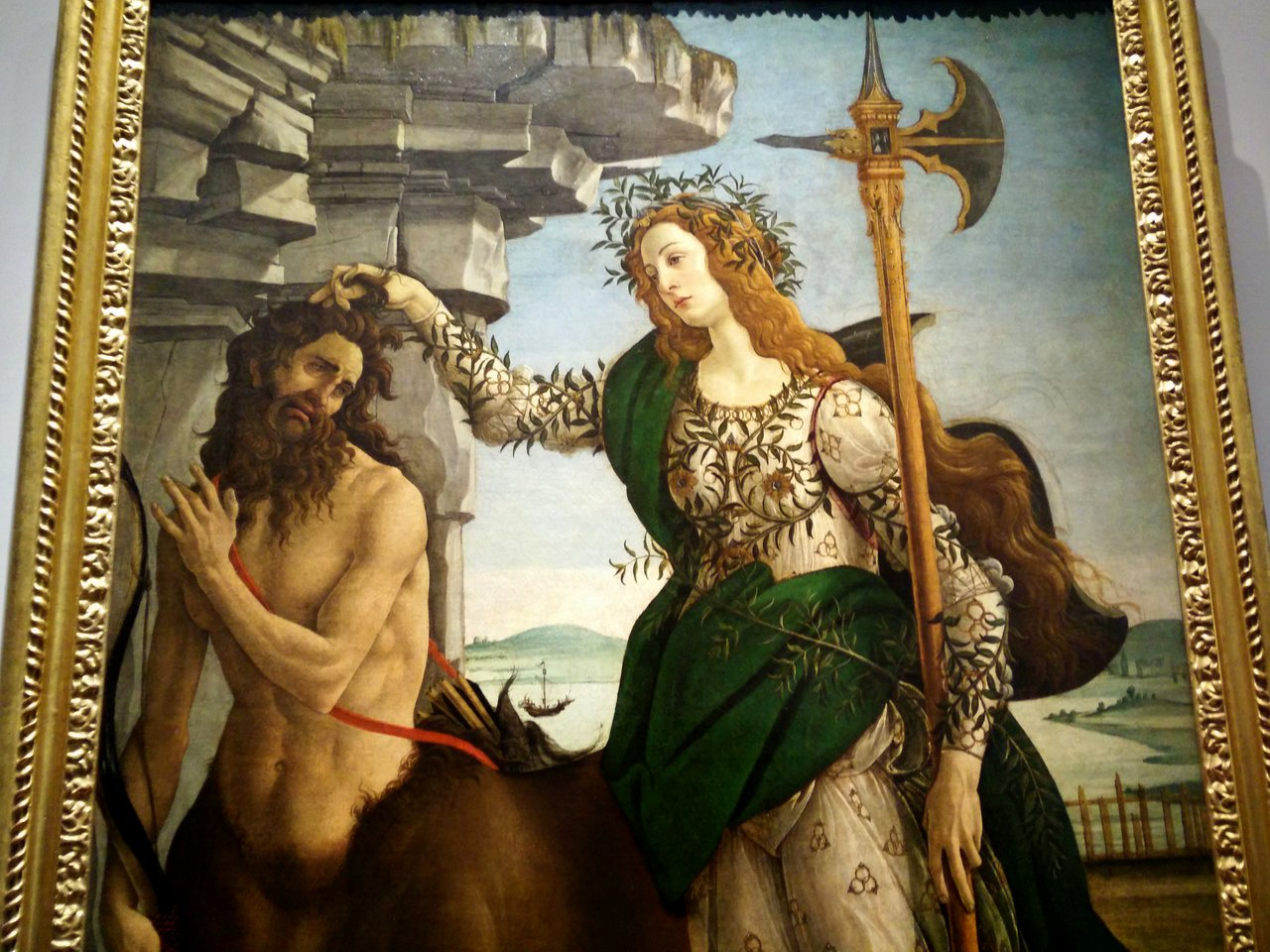 """due giorni a firenze: """"Pallade e il centauro"""" di Botticelli"""