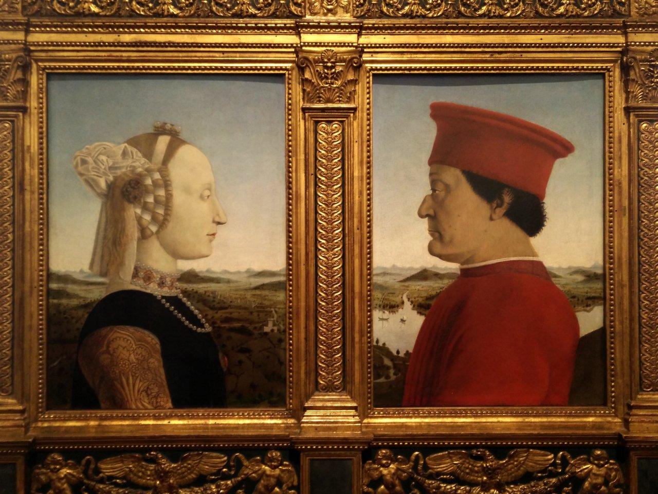"""due giorni a firenze: """"Doppio ritratto dei duchi di Urbino"""" di Piero della Francesca"""