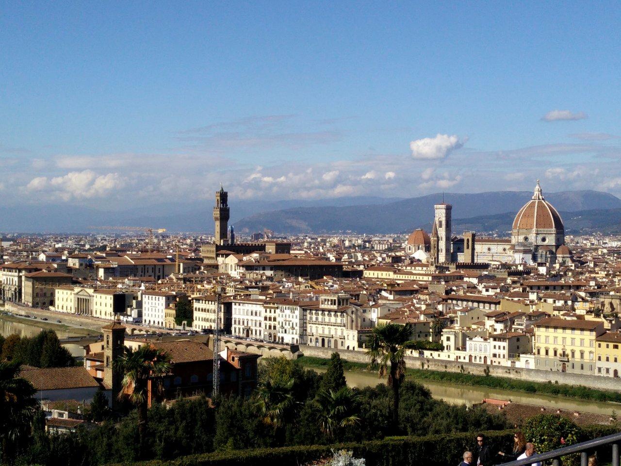 due giorni a firenze: Il panorama da Piazzale Michelangelo