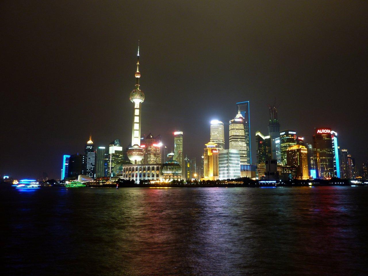 itinerario di quatto settimane in cina: Lo skyline di Shanghai