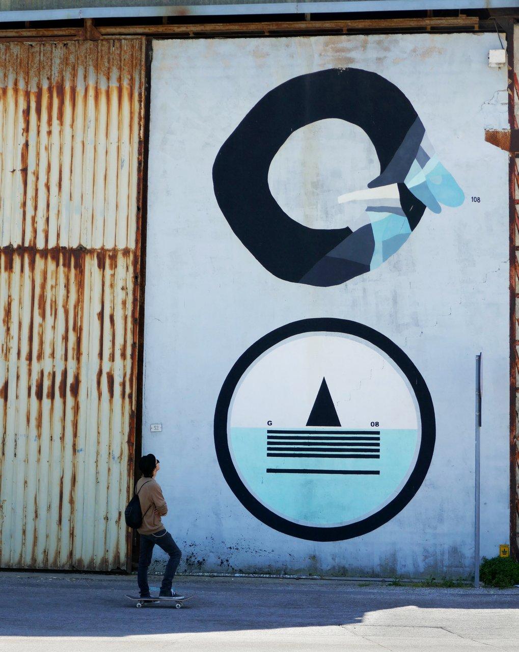 street art civitanova marche: opera di giulio vesprini e 108