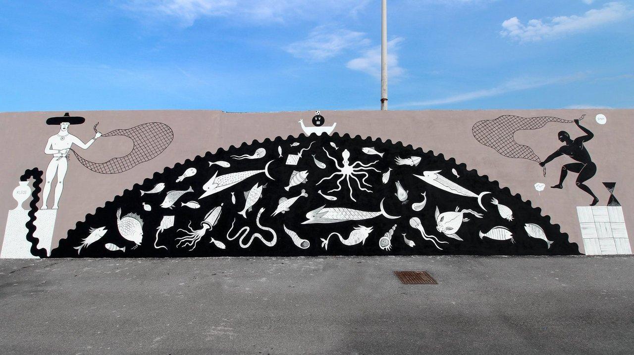 street art civitanova marche: opera di Guerrilla Spam