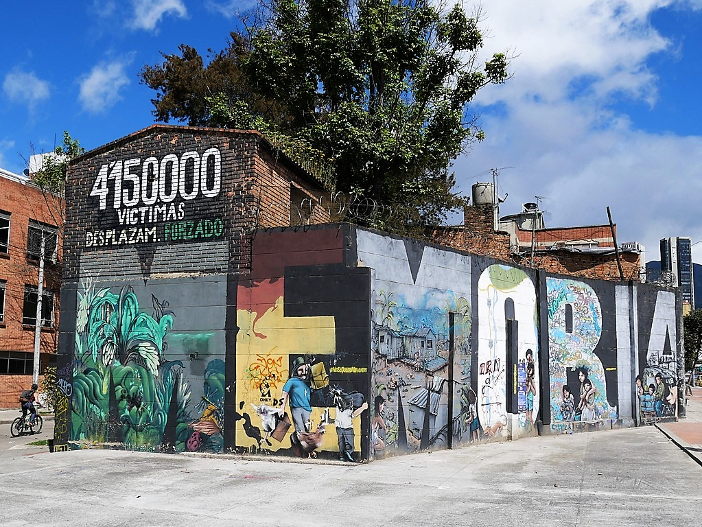 itinerario di tre settimane in colombia: Uno dei murales di Bogotà