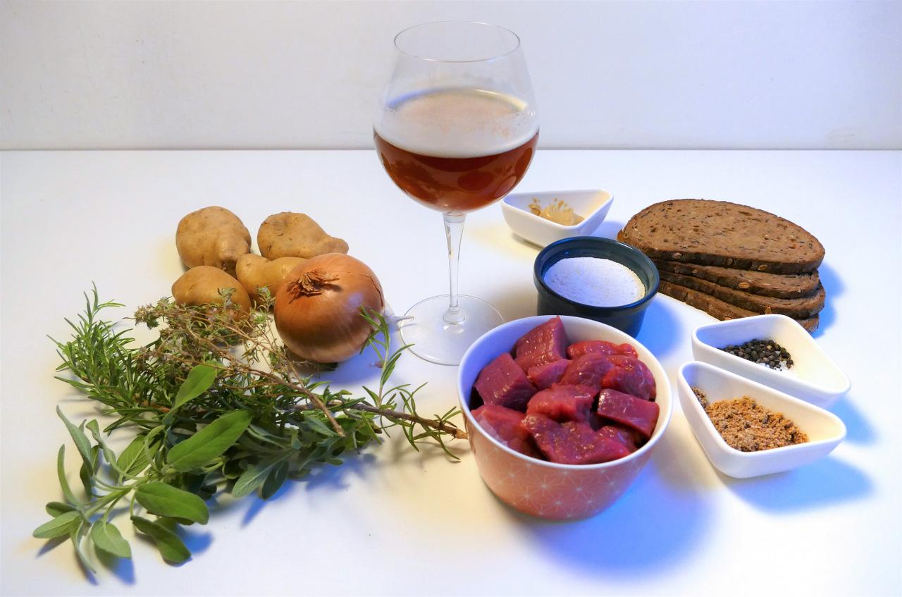 spezzatino alla birra belga: ingredienti