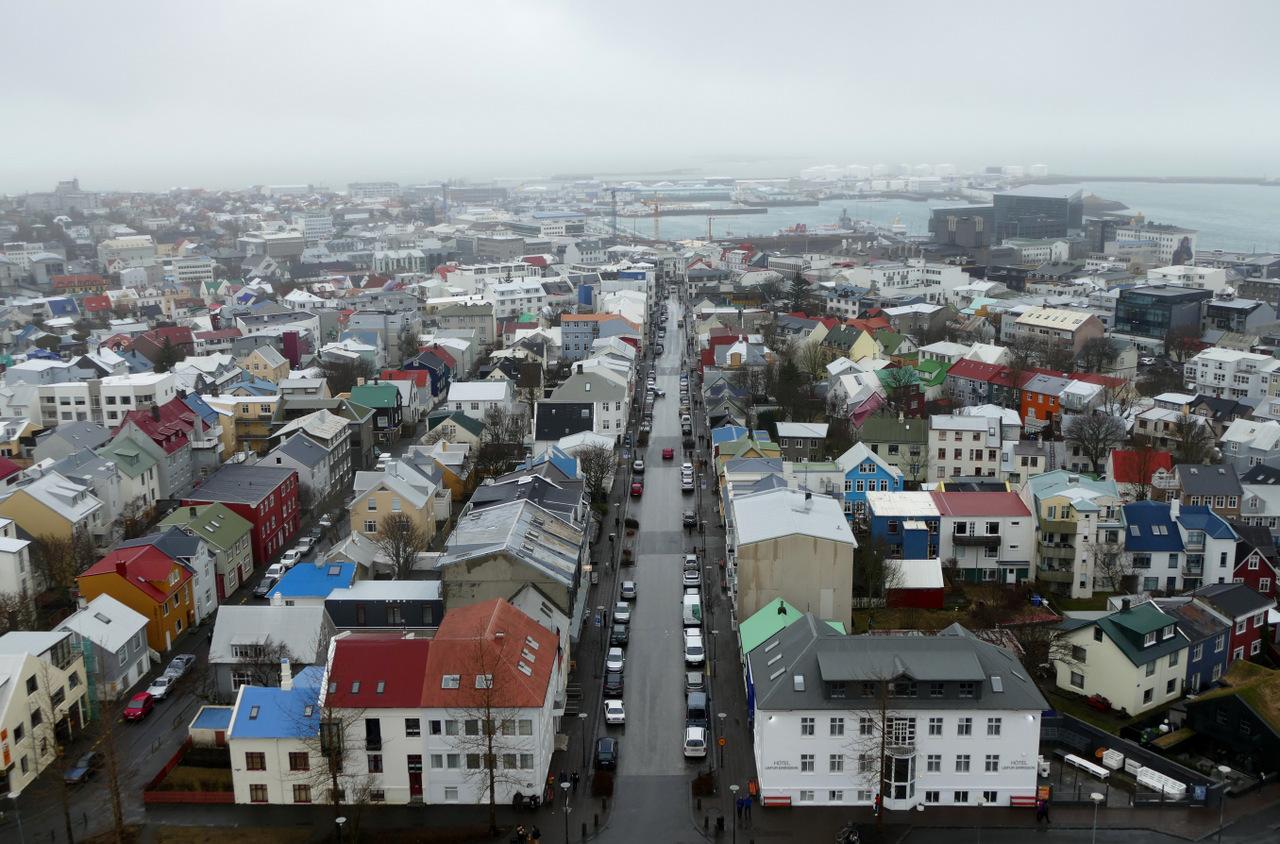 reykjavik in un giorno - la vista dal campanile