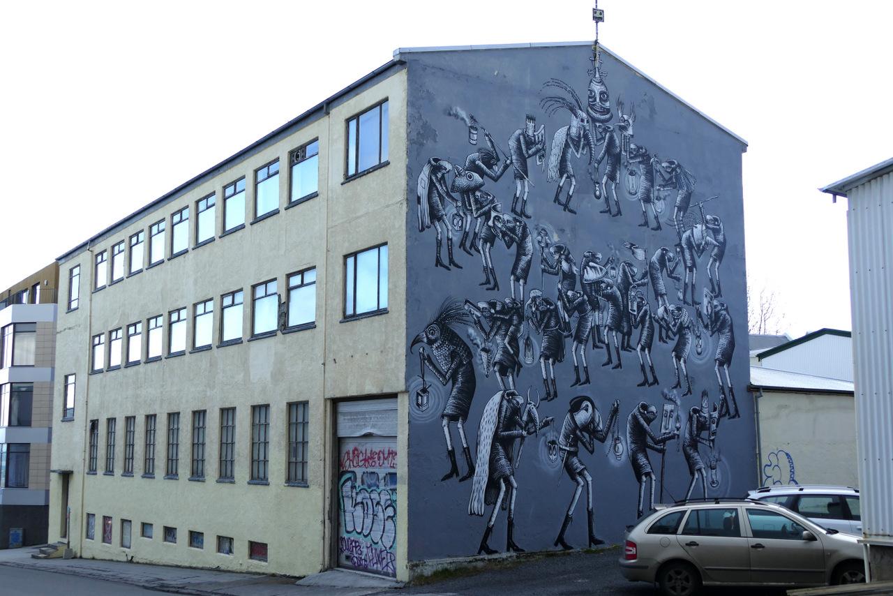 reykjavik in un giorno - street art
