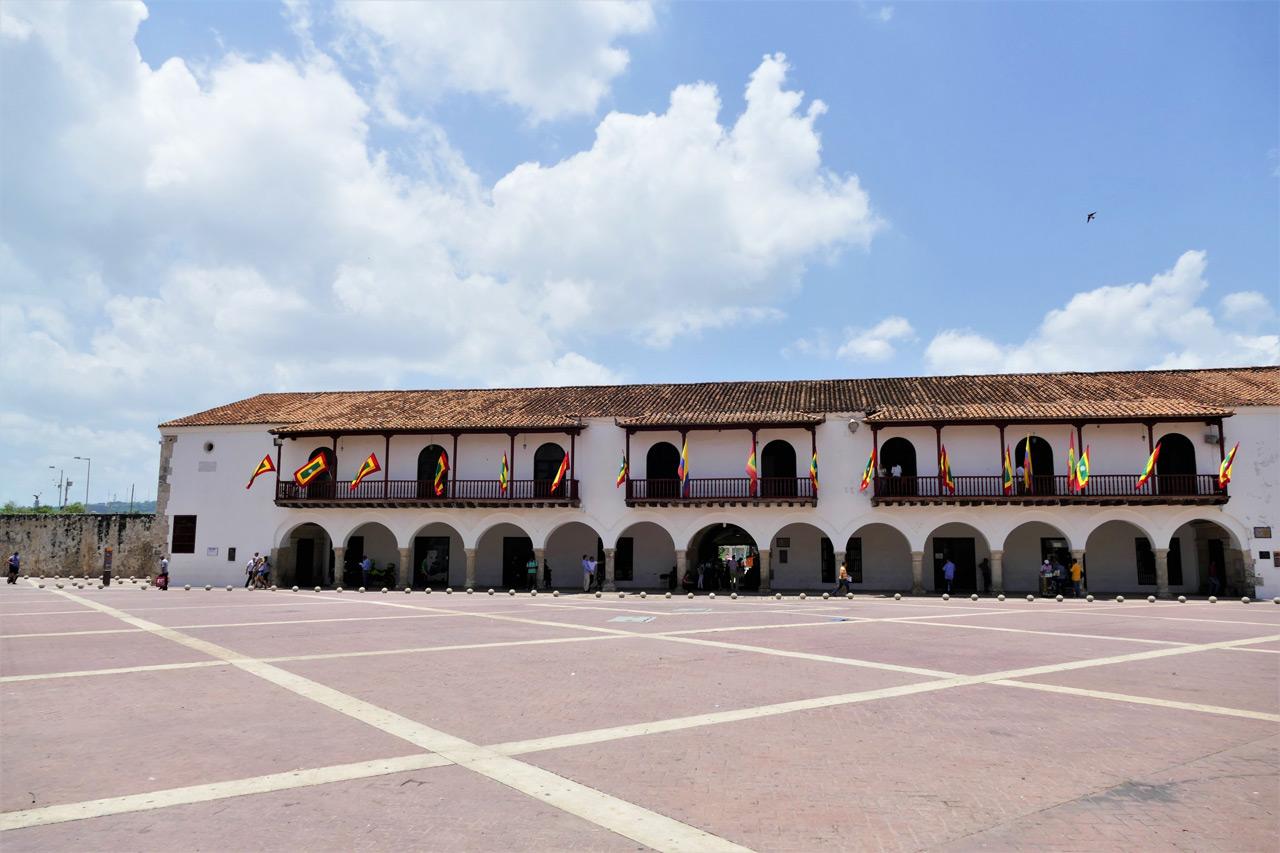 cartagena colombia: plaza de l'aduana