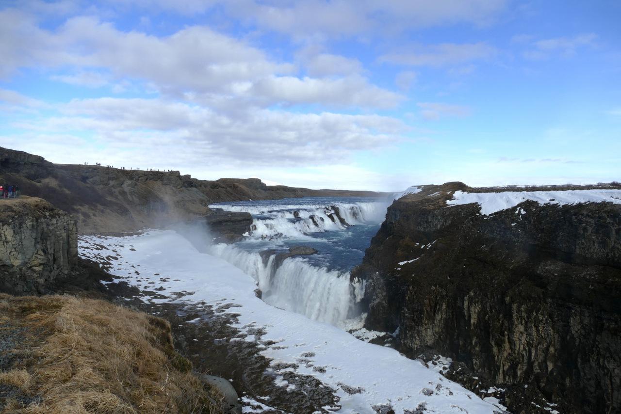 islanda golden circle: La cascata di Gullfoss