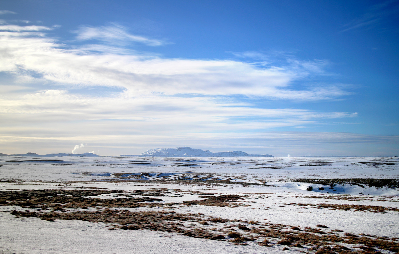 islanda golden circle: le fumarole di Hveragerdi in lontananza