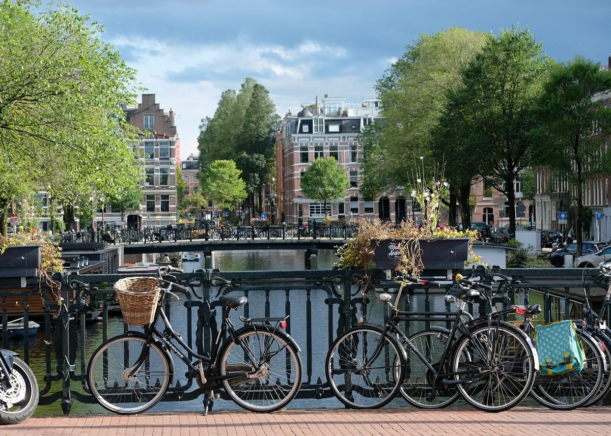 I canali e le biciclette di Amsterdam