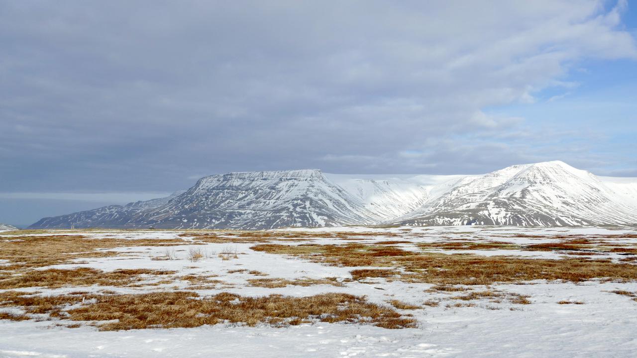 islanda in inverno low cost: panorama appena fuori da Reykjavik