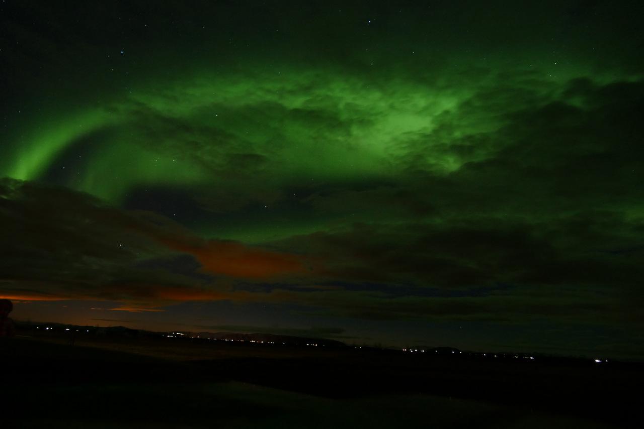 islanda in inverno low cost: aurora boreale