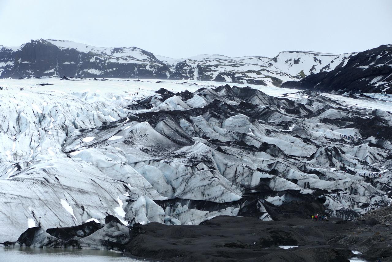 islanda del sud: il ghiacciaio Solheimajokull