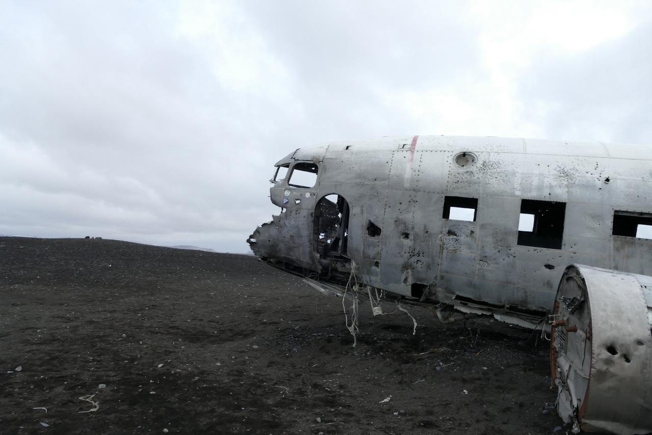 islanda del sud: aereo precipitato