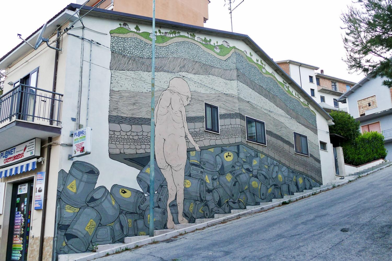 Street Art a Santa Croce di Magliano: Un'altra opera di Nemo's